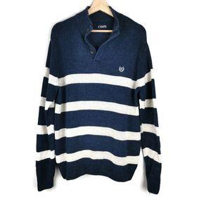 CHAPS Knit Sweater Stripes Large